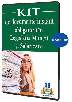 Formulare si Modele obligatorii in Legislatia muncii si Salarizare