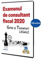 Consultant fiscal - Teste grila actualizate pentru examenul din 2020