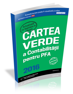 Cartea Verde a Contabilitatii pentru PFA 2016