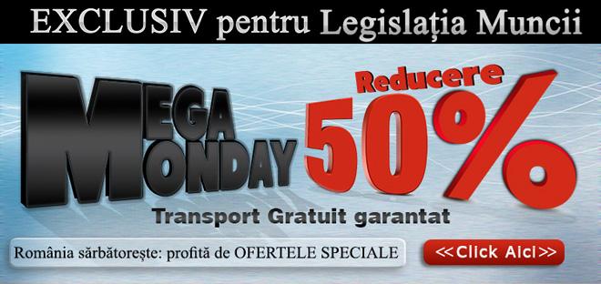 EXCLUSIV pentru LEGISLATIA MUNCII Reducere 50%