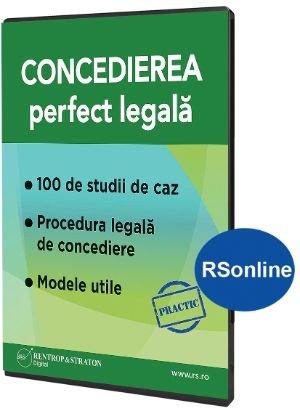 Concedierea perfect legala - format Rsonline.ro