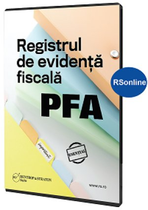 Registrul de evidenta fiscala PFA - varianta online