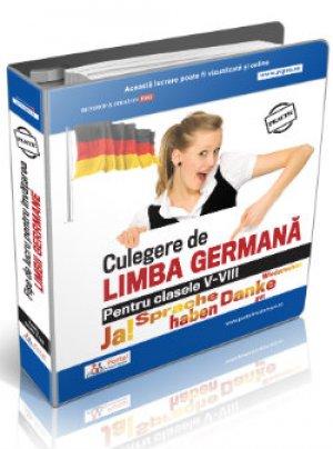 Culegere fise lucru pentru invatarea limbii germane pentru clasele V-VIII + Cadou