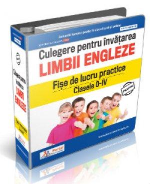 Culegere fise lucru pentru invatarea limbii engleze clasele 0-IV + Cadou