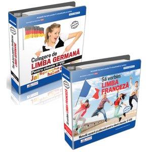 Set Culegeri Limba Germana si Limba Franceza pentru clasele V - VIII + Cadou