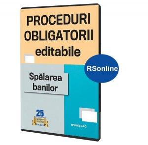 Proceduri obligatorii spalarea banilor