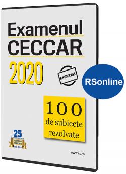 Subiecte rezolvate pentru examenul CECCAR 2020