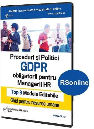 Proceduri si Politici GDPR obligatorii pentru Managerii HR - Ghid pentru Resurse Umane
