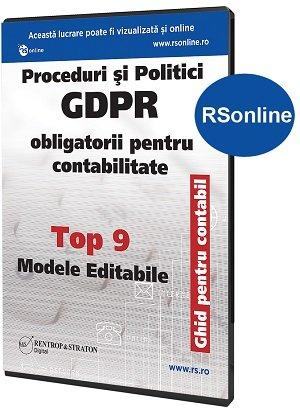 Proceduri si Politici GDPR obligatorii pentru Contabilitate - Ghid pentru Contabili