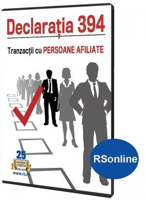 Declaratia 394. Tranzactii cu persoane afiliate - format ONLINE