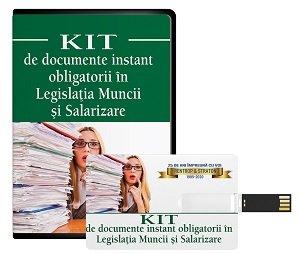 Kit de documente instant obligatorii in Legislatia muncii si Salarizare