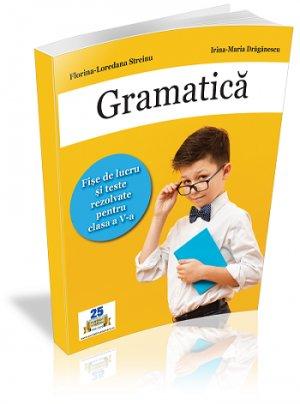Gramatica. Fise de lucru si Teste rezolvate pentru clasa a V-a