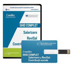 Consilier Ghid complet Salarizare, ReviSal si Contributii sociale (stick) - ABO 6 luni