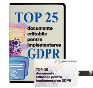 Top 25 documente editabile pentru implementare GDPR
